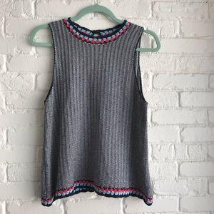 THML gray knit tank / sweater blouse medium